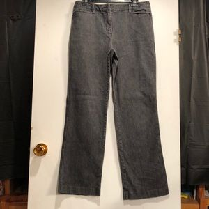 Talbots Stretch Charcoal Jeans.  Size 10